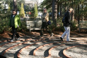 Walking the labyrinth at the Lower Cape Fear Hospice in Wilmington, NC
